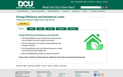 Energy Loans | Fuel Assistance | DCU | MA | NH