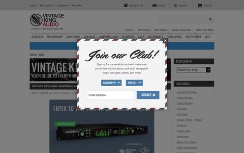 Screenshot of Blog vintageking.com - Vintage King Blog  - Vintage King Audio - captured Oct. 2, 2015