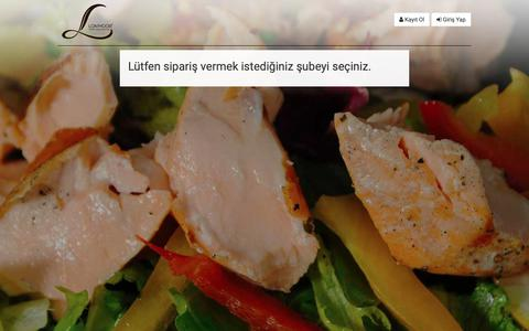 Screenshot of Menu Page lonmoor.com - Şube Seçimi -   Lonmoor (Maçka) Online Sipariş - captured Sept. 30, 2018