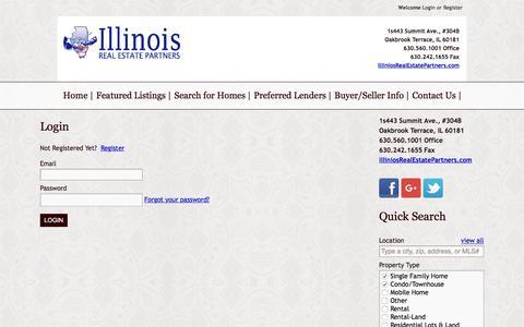 Screenshot of Login Page illinoisrealestatepartners.com - User Login   Illinois Real Estate Partners - captured Jan. 8, 2016