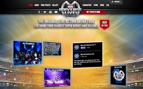Screenshot of Home Page marveluniverselive.com - Marvel Universe LIVE! - captured Sept. 19, 2014