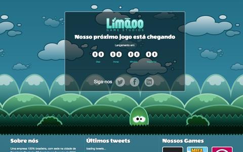 Screenshot of Home Page limaoo.com - Limãoo Game Studios - captured Oct. 2, 2014