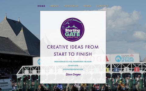 Screenshot of Home Page startinggatemarketing.com - Starting Gate Marketing - captured July 5, 2017