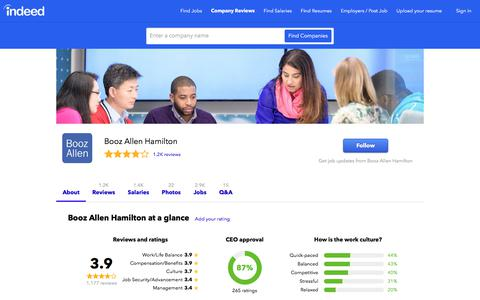 Booz Allen Hamilton Careers and Employment | Indeed.com