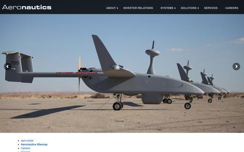 Screenshot of Site Map Page aeronautics-sys.com - Aeronautics Ltd. | Sitemap - captured Oct. 3, 2018