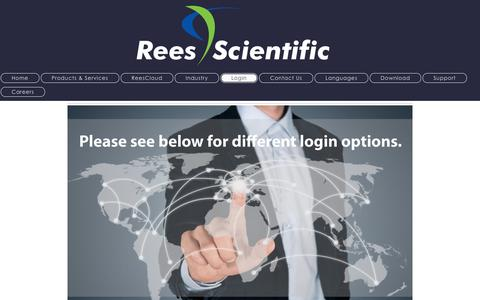 Screenshot of Login Page reesscientific.com - For Employees, Customers, Representatives, Mail server, Links - captured Feb. 24, 2016