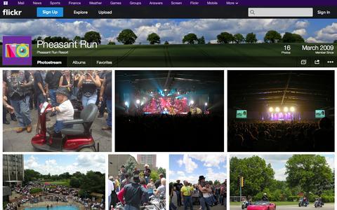 Screenshot of Flickr Page flickr.com - Flickr: Pheasant Run Resort's Photostream - captured Oct. 22, 2014