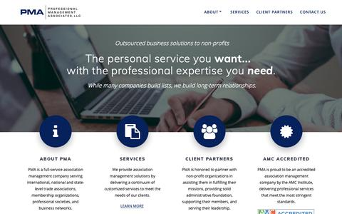 Screenshot of Home Page association-partners.com - Professional Management Associates, LLC - captured Oct. 24, 2018