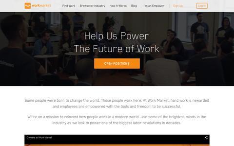 Screenshot of Jobs Page workmarket.com - Come Work at Work Market | Work Market - captured Feb. 5, 2016
