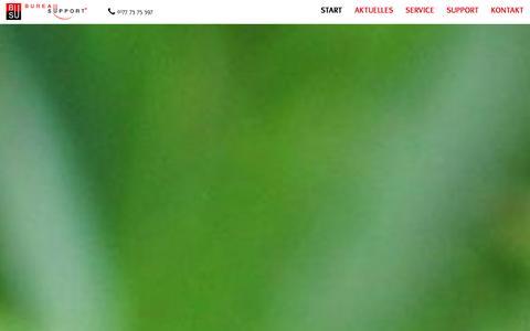 Screenshot of Home Page bureausupport.de - Büroservice in Mönchengladbach und Hamburg - captured Jan. 7, 2016