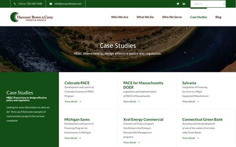 Screenshot of Case Studies Page harcourtbrown.com - Who We Are - captured Jan. 26, 2016