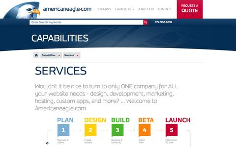 Screenshot of Services Page americaneagle.com - Services | Americaneagle.com - captured Oct. 3, 2015