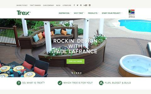 Screenshot of Contact Page trex.com - Wood Alternative Deck, Railing, Lighting and Furniture - Trex - captured Feb. 19, 2016