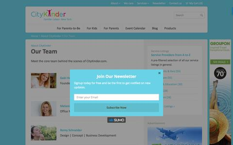 Screenshot of Team Page citykinder.com - Our Team   Meet the CityKinder Team Members    CityKinder - captured July 30, 2017