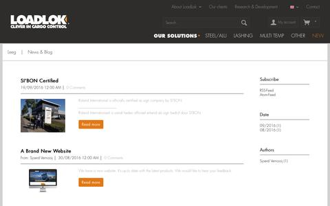 Screenshot of Press Page loadlok.com - News & Blog | Leeg | Loadlok (EN) - captured Nov. 12, 2016