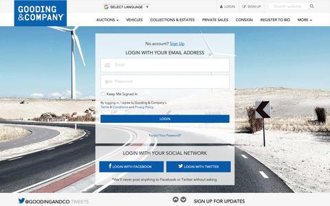 Screenshot of Login Page goodingco.com - Login |  Gooding & Company - captured Sept. 29, 2018
