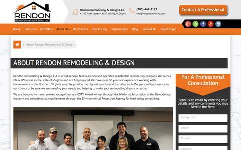 Screenshot of About Page rendonremodeling.com - About Rendon Remodeling & Design - Rendon Remodeling - captured Nov. 9, 2017