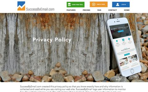 Screenshot of Privacy Page successbyemail.com - SuccessByEmail | Privacy - captured Oct. 24, 2017