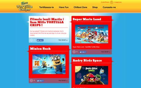 Screenshot of Home Page tortillachips.ro - SamMills Tortilla Chips   Tortilizeaza-te! - captured Dec. 15, 2016
