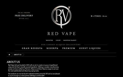 Screenshot of About Page redvape.com - About Us | Red Vape.com - captured Dec. 12, 2016