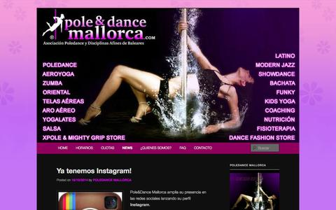 Screenshot of Press Page poledancemallorca.com - NOTICIAS - POLE & DANCE MALLORCAPOLE & DANCE MALLORCA | POLE & DANCE MALLORCA,gimnasio femenino,telas aéreas,zumba palma,oriental,latino,pole sport,X-Pole españa,Mighty Grip,Pole Kids,strechting. - captured Oct. 28, 2014