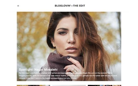 Screenshot of Blog bloglovin.com - Bloglovin'—the Edit - captured Nov. 25, 2015