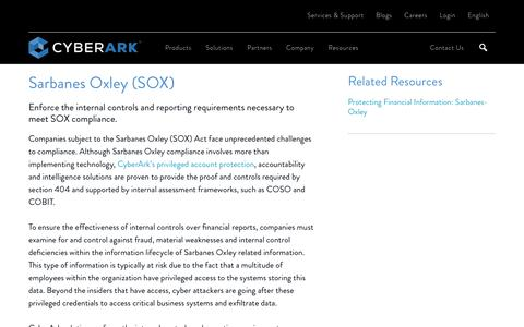 Sarbanes Oxley (SOX) Compliance Solutions - CyberArk