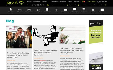 Screenshot of Blog jasonl.com.au - Latest Trends In Ergonomic Offices - Learn How To Create A Healthy Office - captured Jan. 28, 2019