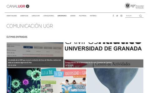 Screenshot of Blog ugr.es - Blog - Canal UGR - captured Jan. 25, 2017