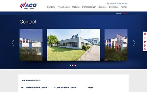 Screenshot of Contact Page acd-gruppe.de - Kontakt - captured Nov. 19, 2016
