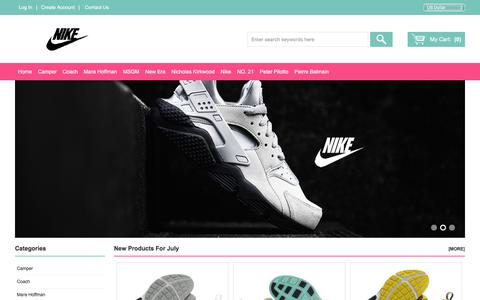 Screenshot of Home Page hotteo.com - Nike Running Shoes Sale & Find The Cheapest Price - captured July 14, 2018