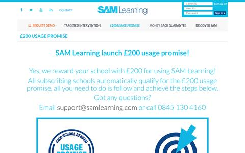 £200 Usage Promise from SAM Learning