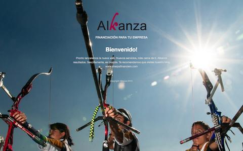 Screenshot of Home Page alkanza.es - Alkanza - captured Oct. 4, 2014