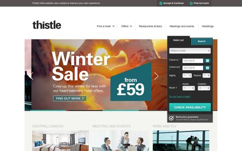 UK & Asia Hotel Breaks & Deals - Hotels in England - Thistle Hotels