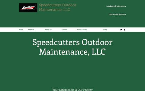 Screenshot of Home Page speedcutters.com - Speedcutters Outdoor Maintenance, Lawn Care Service - captured Nov. 14, 2017