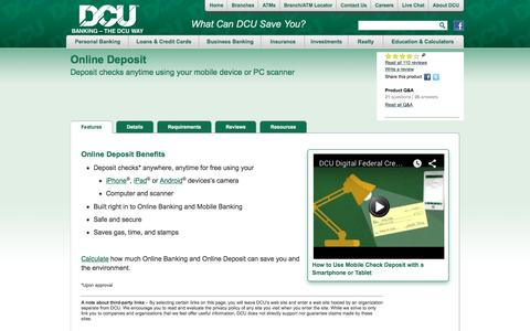 Online Deposit | DCU | Massachusetts | New Hampshire