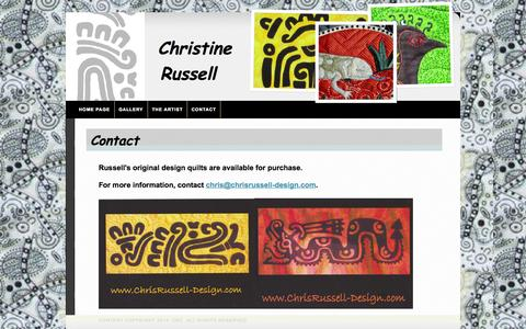 Screenshot of Contact Page chrisrussell-design.com - Christine Russell contact, sale, purchase - captured Oct. 2, 2014