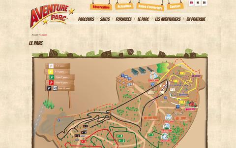 Screenshot of Maps & Directions Page aventureparc.be - Liste des formules - Aventure Parc - captured Nov. 21, 2016