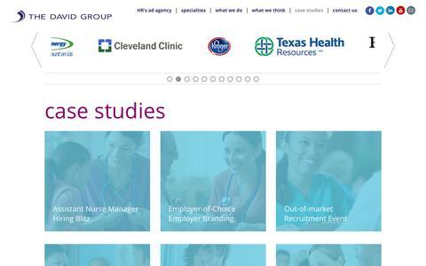Screenshot of Case Studies Page davidgroup.com - Case Studies | The David Group - captured Nov. 30, 2016