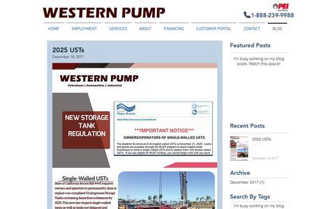 Screenshot of Blog westernpump.com - westernpump-1 | BLOG - captured Nov. 18, 2018