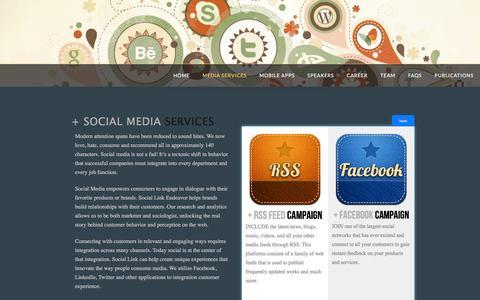 Screenshot of Services Page slendeavor.com - Media Services | Social Link Endeavor - captured Feb. 15, 2016