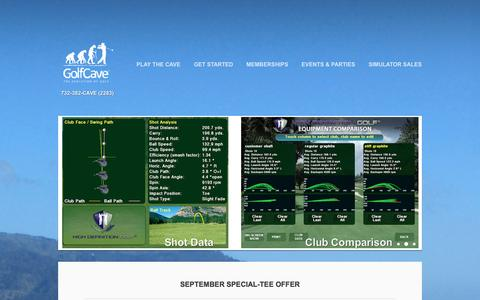 Screenshot of Home Page golf-cave.com - GolfCave - Welcome - captured Sept. 30, 2014