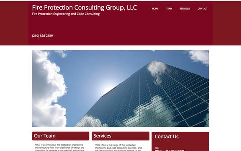 Screenshot of Home Page firepcg.com - Fire Protection Consulting Group - captured Oct. 6, 2014