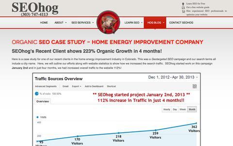 Screenshot of Case Studies Page seohog.com - SEO Case Studies - captured Dec. 18, 2015