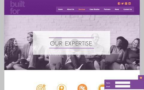 Screenshot of Services Page builtformarketing.co.uk - Services | Built For Marketing - captured June 1, 2017