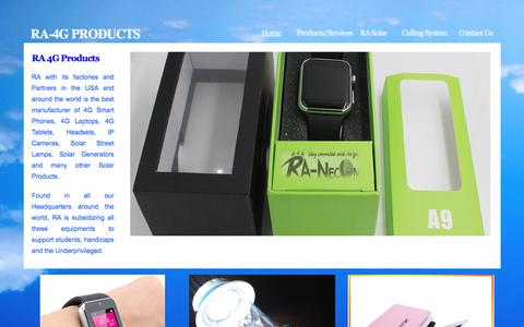 Screenshot of Contact Page ra-necom.com - RA 4G Products - captured Aug. 17, 2016