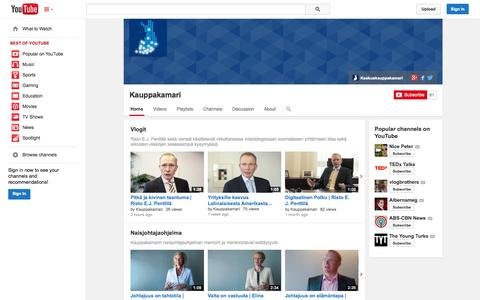 Screenshot of YouTube Page youtube.com - Kauppakamari  - YouTube - captured Oct. 23, 2014