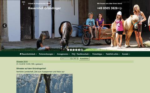 Screenshot of Press Page bauernhof-gruendinger.de - Urlaub auf dem Bauernhof - captured April 2, 2017