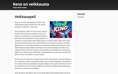 Screenshot of Home Page medcorpinc.com - Veikkauspeli nimeltään Keno - captured Oct. 6, 2014