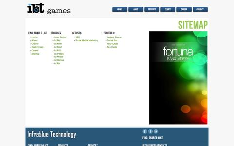 Screenshot of Site Map Page ibtgames.com - Infrablue Technology | Home Website Design and Web Development Company, Web Solutions Service Provider - captured Sept. 16, 2014